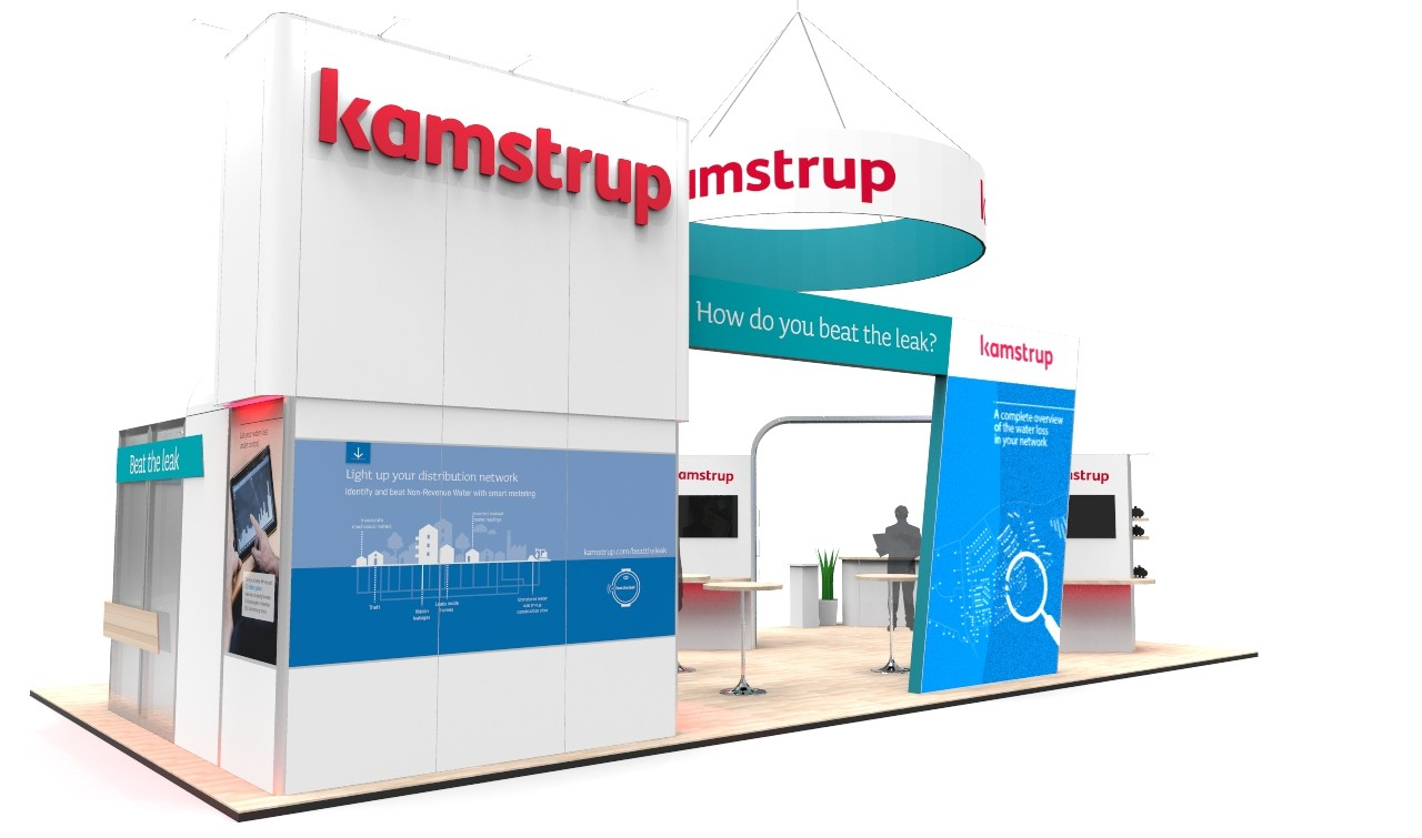 trade show booth kamstrup